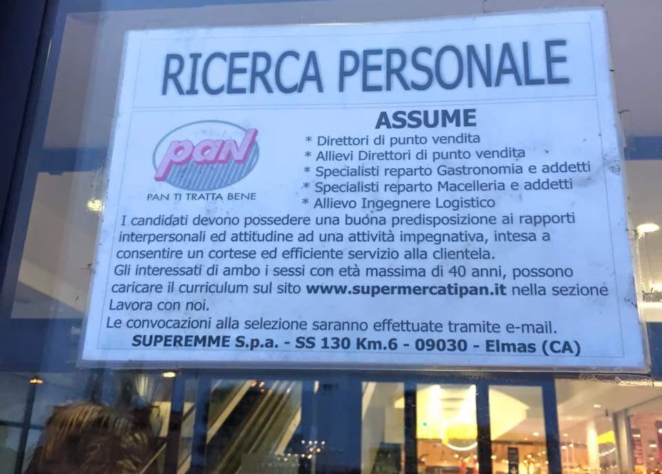 Offerte di Lavoro: Pan ricerca personale per i supermercati in Sardegna